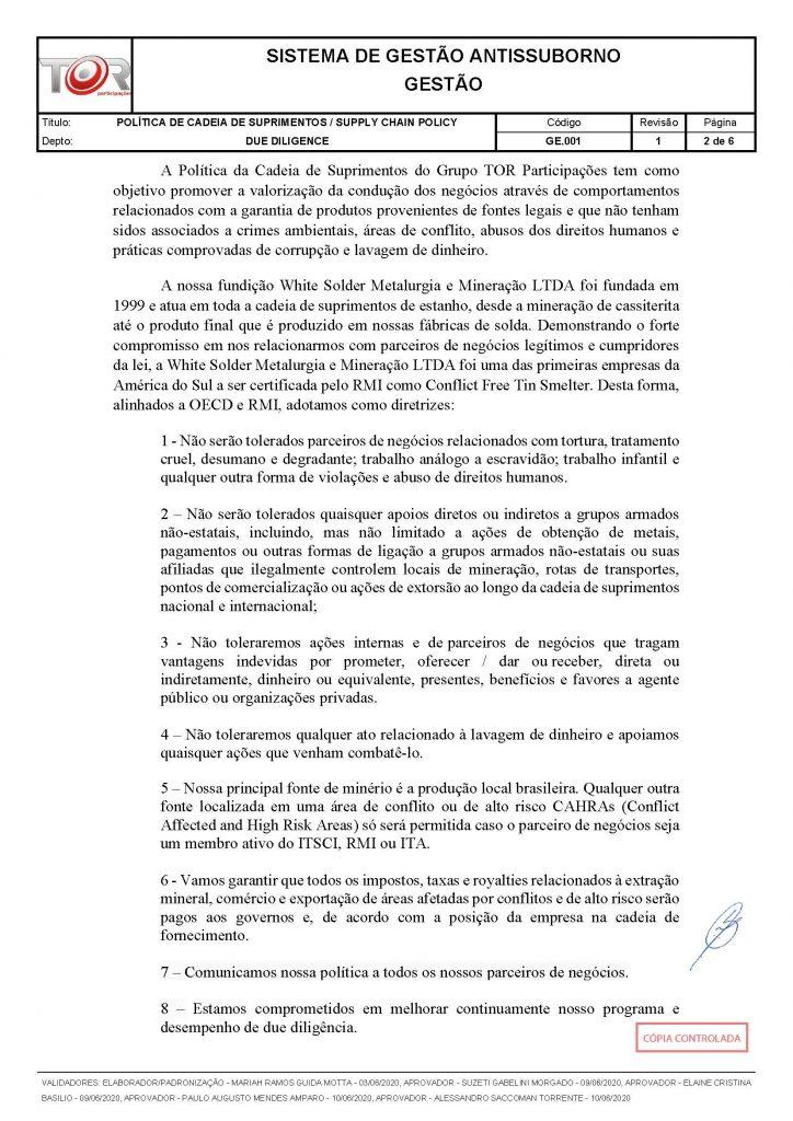 POLÍTICA DE CADEIA DE SUPRIMENTOS - GE.001 REV001_Página_2
