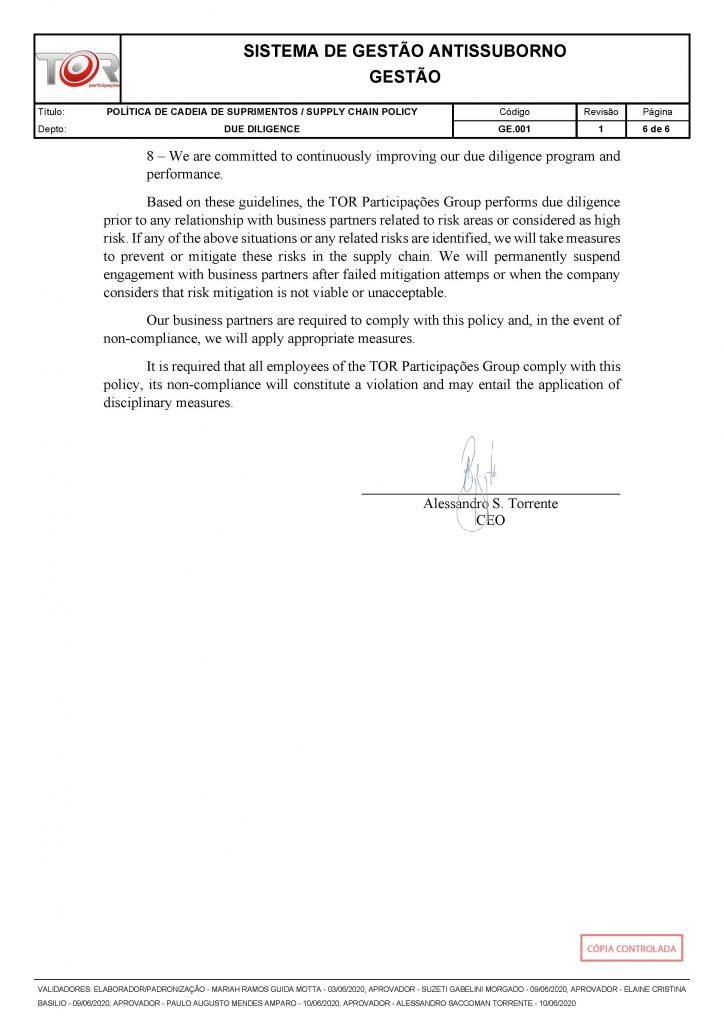 POLÍTICA DE CADEIA DE SUPRIMENTOS - GE.001 REV001_Página_6